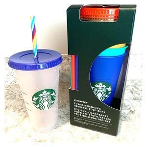 Starbucks color changing cups set!!